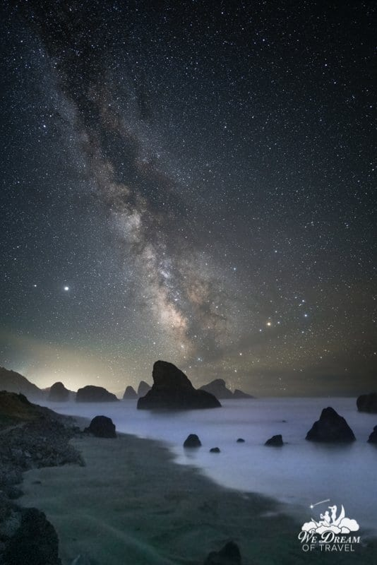 Milky Way photography at Pistol River on the Oregon Coast