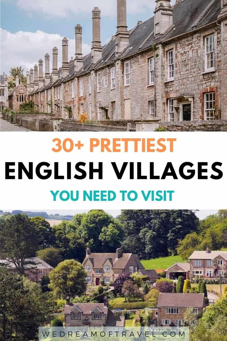 A guide to over 30 of the prettiest English villages, from rural chocolate box villages to fishing villages and everything in between. Think thatched cottages, cobbled streets, rolling countryside and villages that feel lost in time. #England #Villages #UK