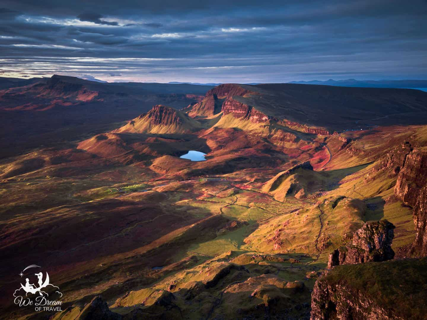 """The diverse color palette and varied landscape of Quiraing make this Isle of Skye photography destination a """"can't miss"""" for landscape photographers."""