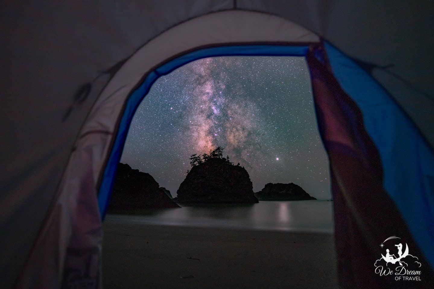 Secret Beach camping under the stars