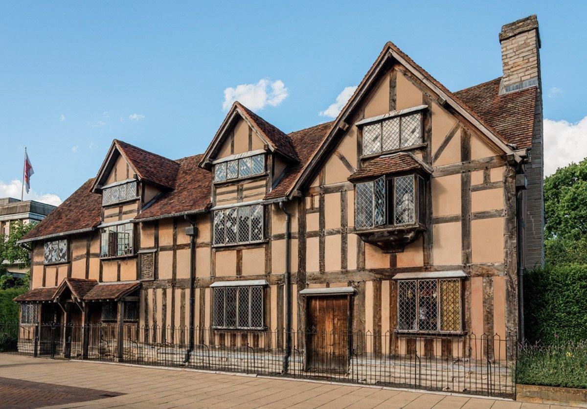 Stratford-upon-Avon in England.