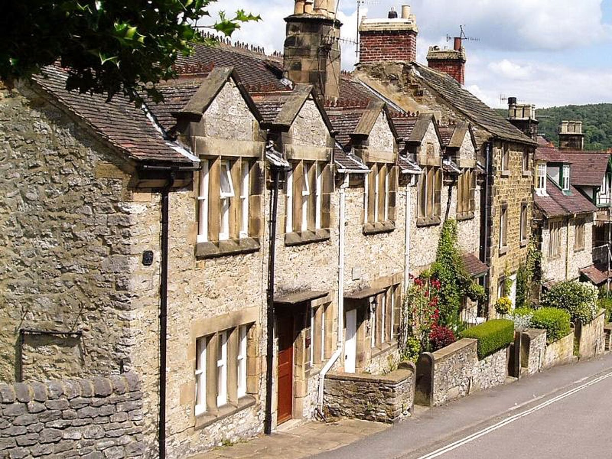 Bakewell in Derbyshire is a quaint English village in the Peak District.