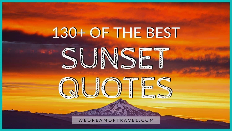 130 Sunset Captions For Instagram We Dream Of Travel Blog