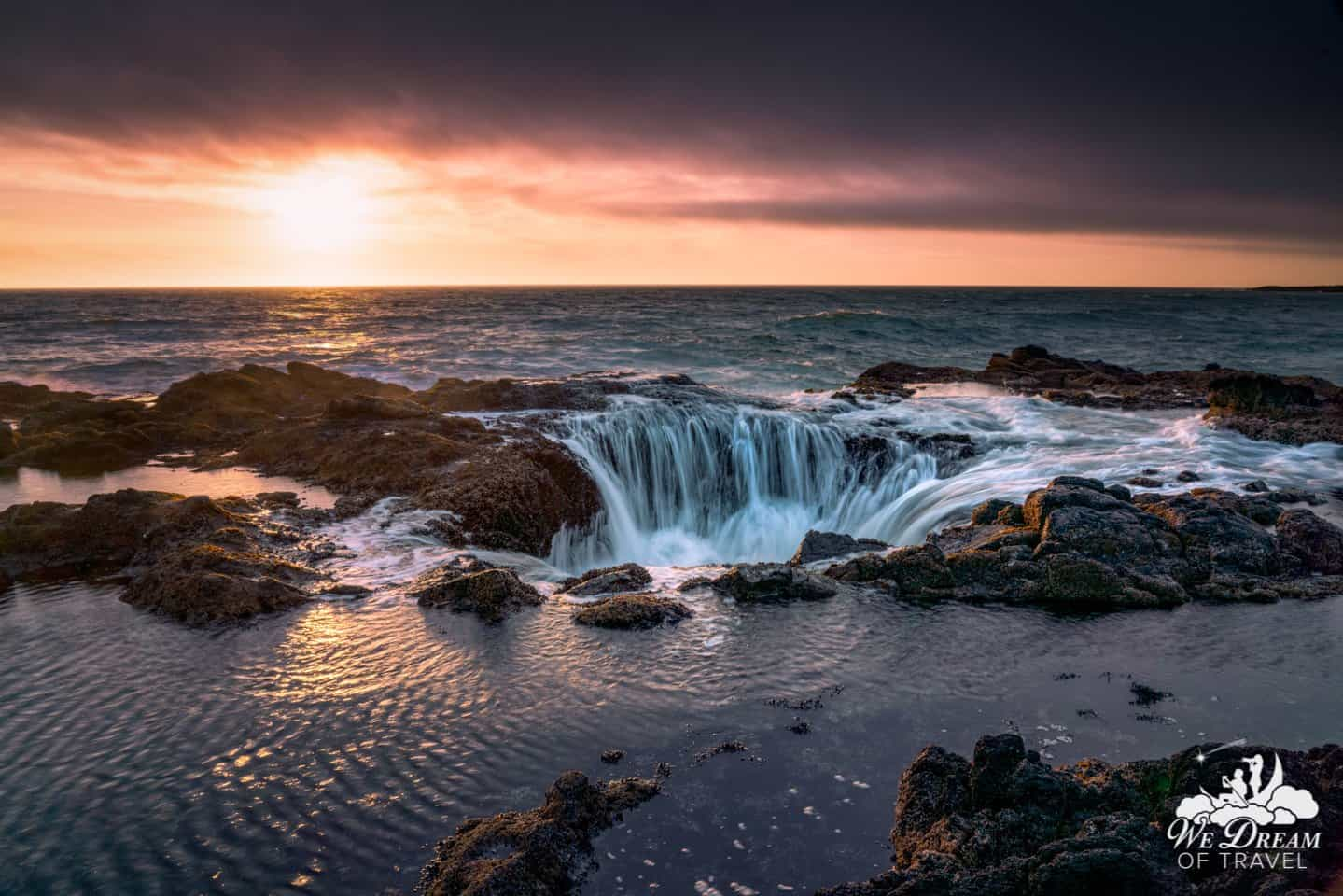 Thor's Well gets a bonus spot as we consider it perhaps the only ocean waterfall in the world.