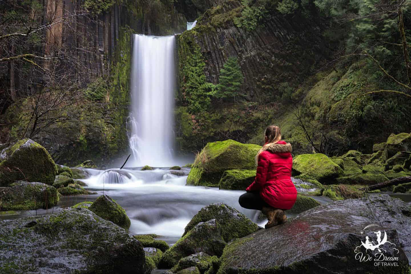 Toketee Falls is the most popular place to visit in Umpqua National Forest