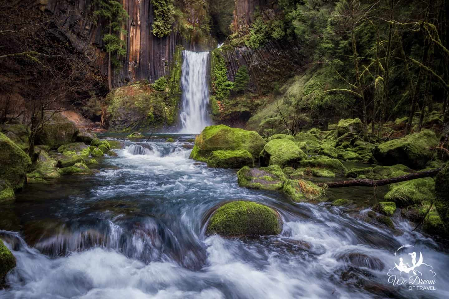 Landscape photographers consider Toketee Falls one of the best places to visit in Oregon