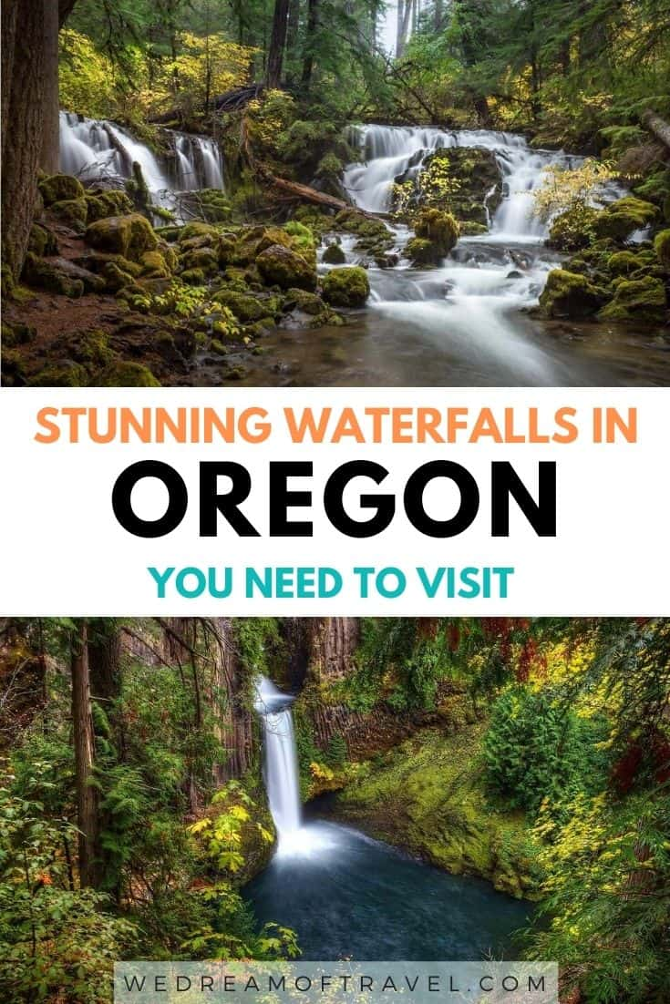 15 best waterfalls in Oregon to add to your Pacific North West bucket list.  Including favourites such as Toketee Falls and Multnomah, as well as hidden gems.  Best Waterfalls In Oregon | Prettiest Waterfalls in Pacific North West | Best Places to go in Oregon | Beautiful Waterfalls in Oregon #Oregon #Waterfalls #Photography #Travel