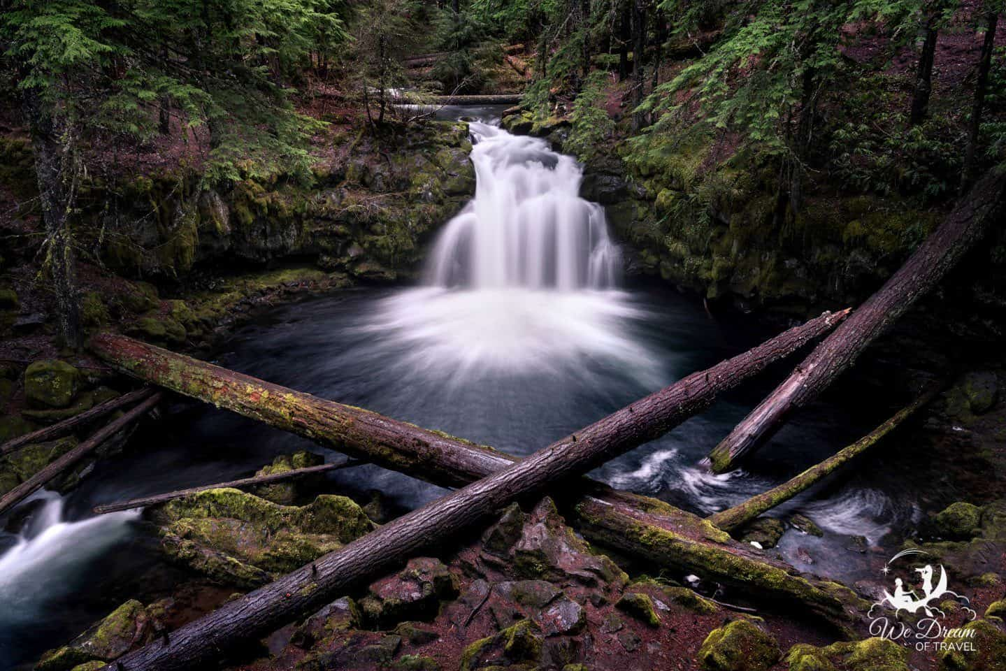 Whitehorse Falls is a small but picturesque waterfall in Umpqua National Forest