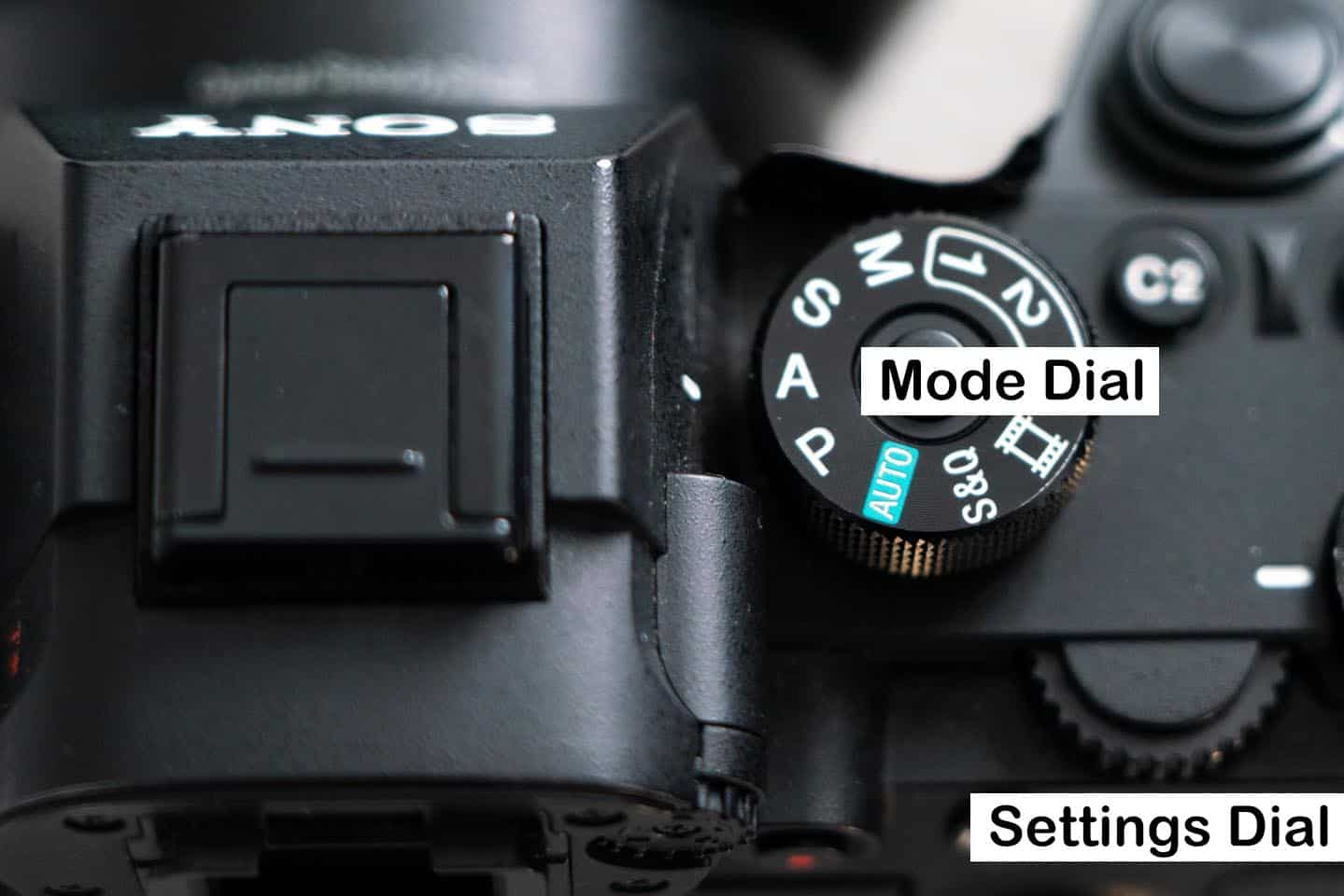 Image of a camera dials showing how to set your camera for aperture priority mode