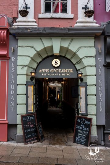 Entrance to Ate O'Clock in York