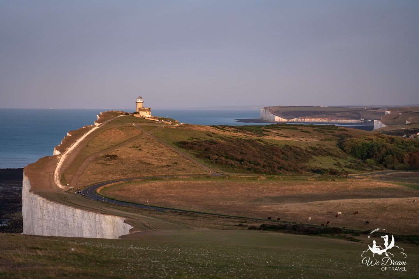 Belle Tout Lighthouse and Seven Sisters on a sunrise photoshoot.