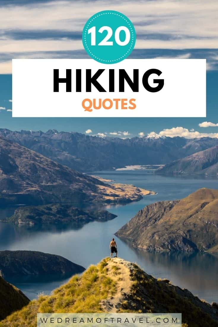Discover 120+ of the BEST hiking quotes to inspire you or to use for your next Instagram caption.  Finding inspiration and motivation can be tough - so we've made it easy for you and compiled all the best hiking quotes and captions, including funny, short, inspirational and even original, unique hiking quotes.  hiking quotes | hiking quotes inspirational | hiking quotes wanderlust | hiking quotes couple | hiking quotes adventure | hiking quotes instagram | hiking quotes short | hiking quotes funny | hiking mountain quotes | quotes about hiking | hiking captions instagram | funny hiking captions | quote of the day | motivational quotes
