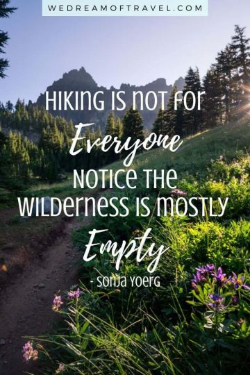 Looking for inspiration for your next hike? We've compiled a list of the top 120+ best hiking quotes to get you excited for your next adventure on the trail! Whether you're hiking mountains, forests, the coast, or any other part of nature… these quotes are guaranteed to inspire wanderlust. hiking quotes | hiking quotes inspirational | hiking quotes wanderlust | hiking quotes couple | hiking quotes adventure | hiking quotes instagram | hiking quotes short | hiking quotes funny | hiking mountain quotes | quotes about hiking | hiking captions instagram | funny hiking captions | quote of the day | motivational quotes