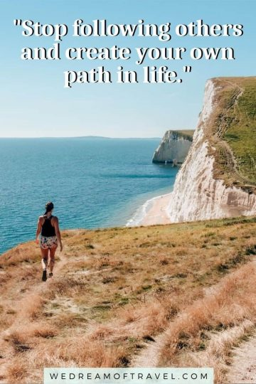 Looking for a quick reminder of a fun past hiking adventure? Or inspiration to get back to the trails? Or maybe even just a great hiking instagram caption!? These quotes about hiking will help take you on an adventure without leaving home! #hiking #hikingquotes #quotesabouthiking #hikinginstagramcaptions #travelquotes #adventurequotes #naturequotes