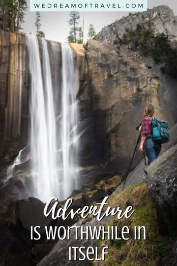 120+ of the best hiking quotes to inspire wanderlust! Motivational, funny, short, long and clever hiking captions for instagram. And beautiful hiking nature photos to encourage you to hit the trail. #hiking #hikingquotes #quotesabouthiking #adventure #funnyquotes #inspirationalquotes