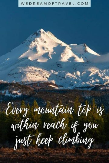 Looking for a quick reminder of a fun past mountain adventure? Or inspiration to get back to the mountains? Or maybe even just a great mountain instagram caption!? These quotes about mountains will help take you on an adventure without leaving home! #mountains #mountainquotes #climbingmountainquotes #mountaininstagramcaptions #quotesaboutmountains #travelquotes