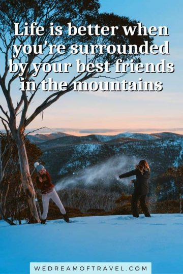 120+ best mountain captions and quotes. From long, inspirational mountain quotes to funny, short, clever captions - this full list of mountain quotes has everything you need for the perfect Instagram caption or to inspire your next adventure. mountain quotes | mountain quotes inspirational | mountain quotes adventure | mountain quotes instagram | mountain quotes climbing | mountain quotes short | mountain quotes funny | hiking mountain quotes | quotes about mountain | mountain captions instagram | funny mountain captions | travel quotes