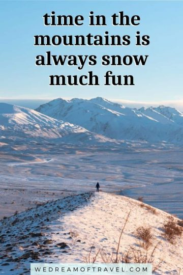 Discover 120+ of the BEST mountain quotes to inspire you or to use for your next Instagram caption.  Finding inspiration and motivation can be tough - so we've made it easy for you and compiled all the best mountain quotes and captions, including funny, short, inspirational and even original, unique quotes.  mountain quotes | mountain quotes inspirational | mountain quotes adventure | mountain quotes instagram | mountain quotes climbing | mountain quotes short | mountain quotes funny | hiking mountain quotes | quotes about mountains | mountain captions instagram | funny mountain captions | quote of the day | motivational quotes