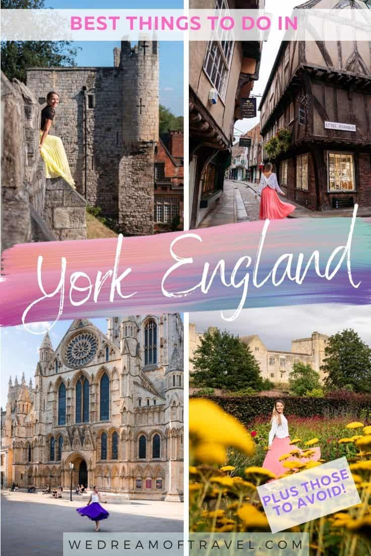 All the best things to do in York England. Plus those to avoid - don't make the same mistakes we did!! Find out about free things to do, how to use the York pass to save money and the best day trip from York. Everything you need to know before you visit one of England's most beautiful (and haunted!) cities.
