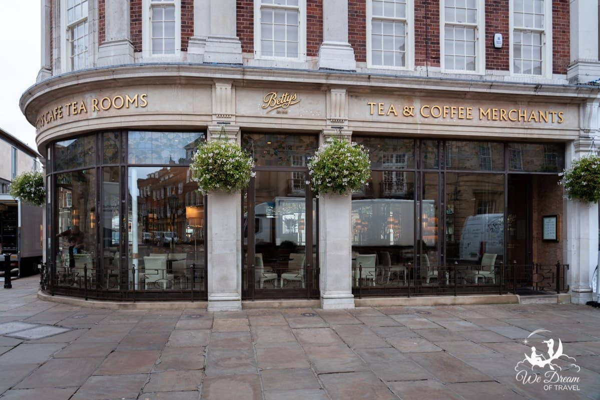 Bettys Tea Rooms are a popular place for afternoon tea in York