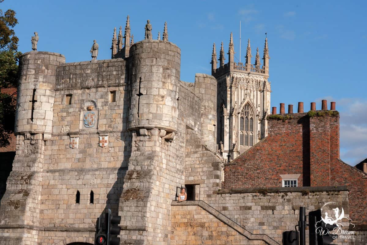 Bootham Bar, one of the gates along the city walls.