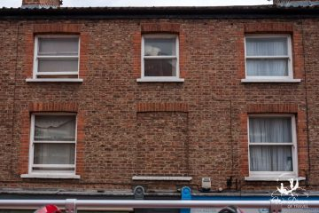 A bricked up window in York from the 1696 windows tax!