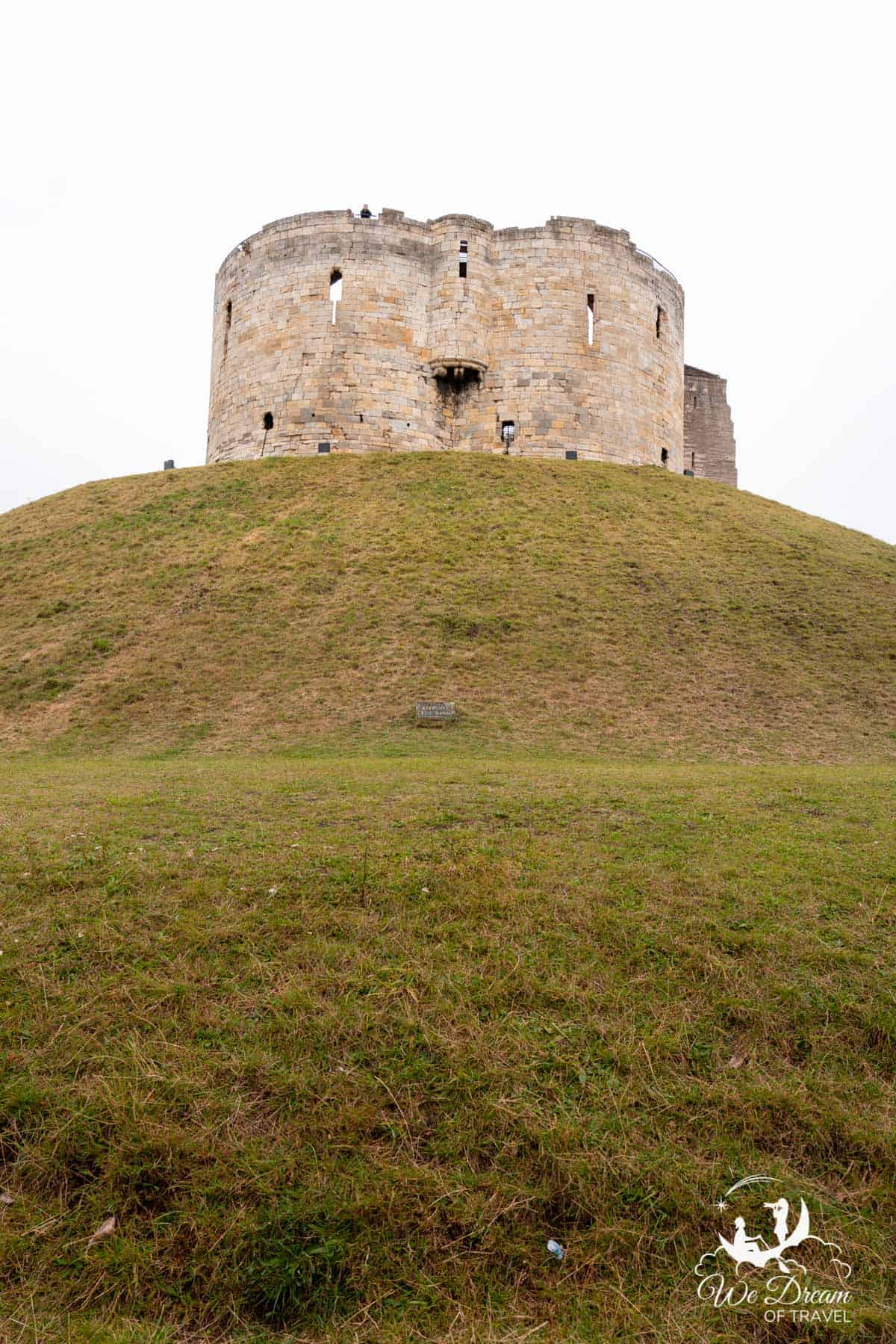 Clifford Tower sat majestically atop its hill in York