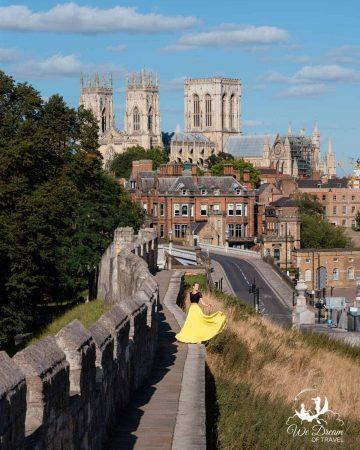 Exploring the York city walls