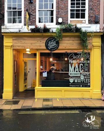 The outside of Fancy Hanks - the best restaurant in York England