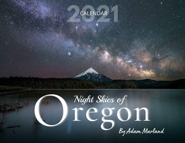 Cover image for Oregon Night Skies 2021 Calendar