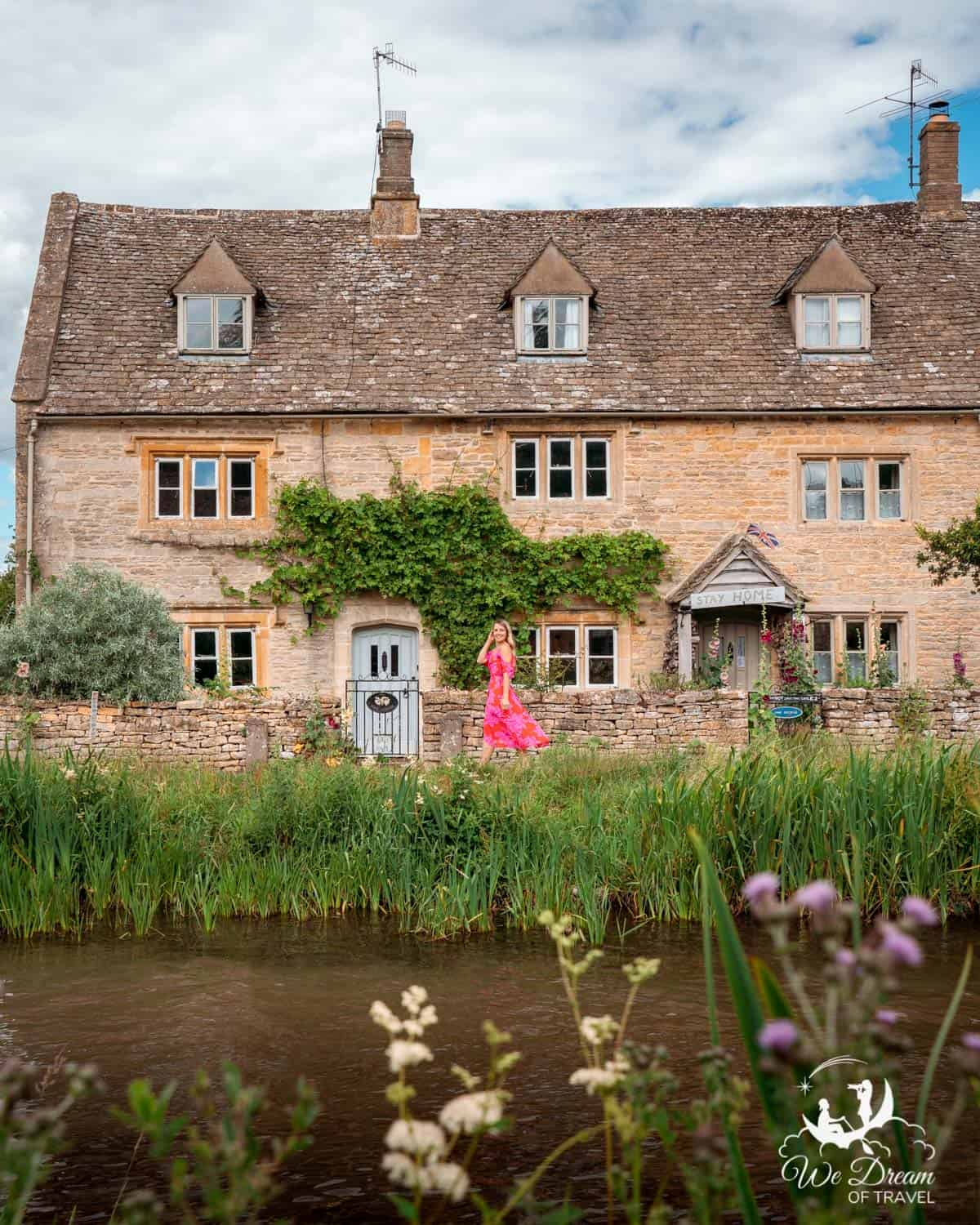 A beautiful row of cottages in the picturesque Cotswold village Lower Slaughter