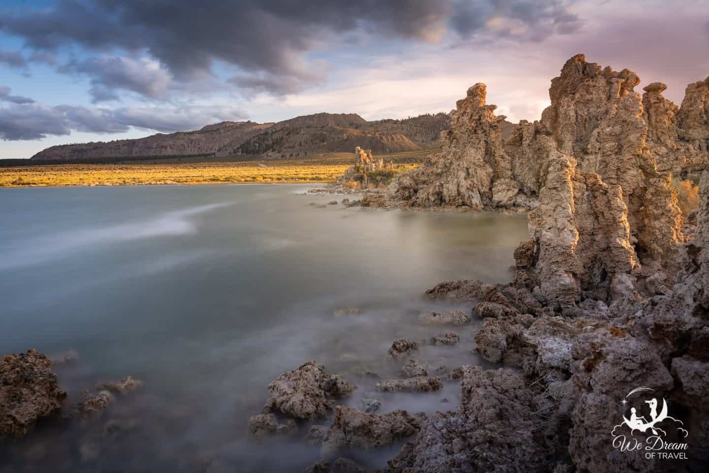 Using a long exposure to calm the waters and enhance the mood at Mono Lake.