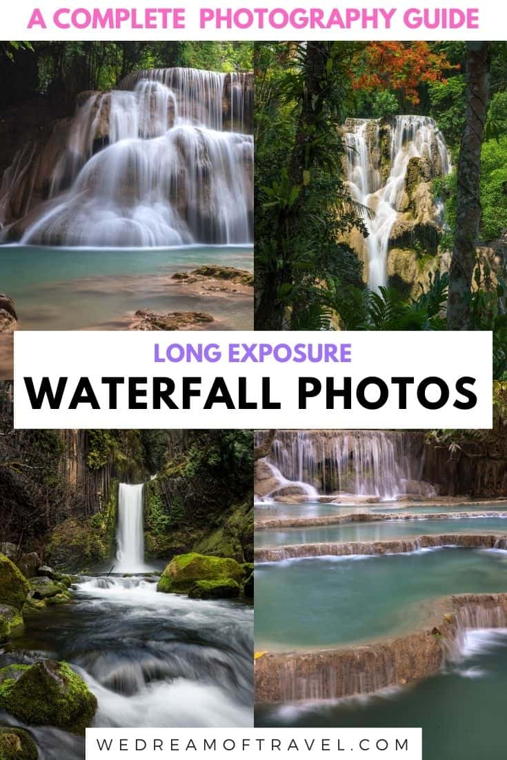 A complete guide to waterfall photography.  Everything you need to know and useful tips to create incredible long exposure waterfall photos.