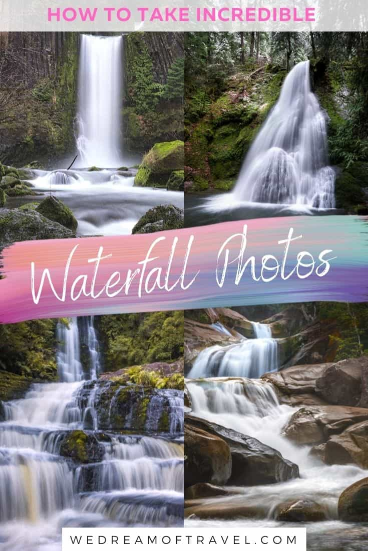 Everything you need to know to create beautiful long exposure waterfall photos. Long Exposure Waterfall Photography | Waterfall Photos | Beautiful Waterfall Photos | Waterfall Photography Beautiful | Waterfall Photography Nature