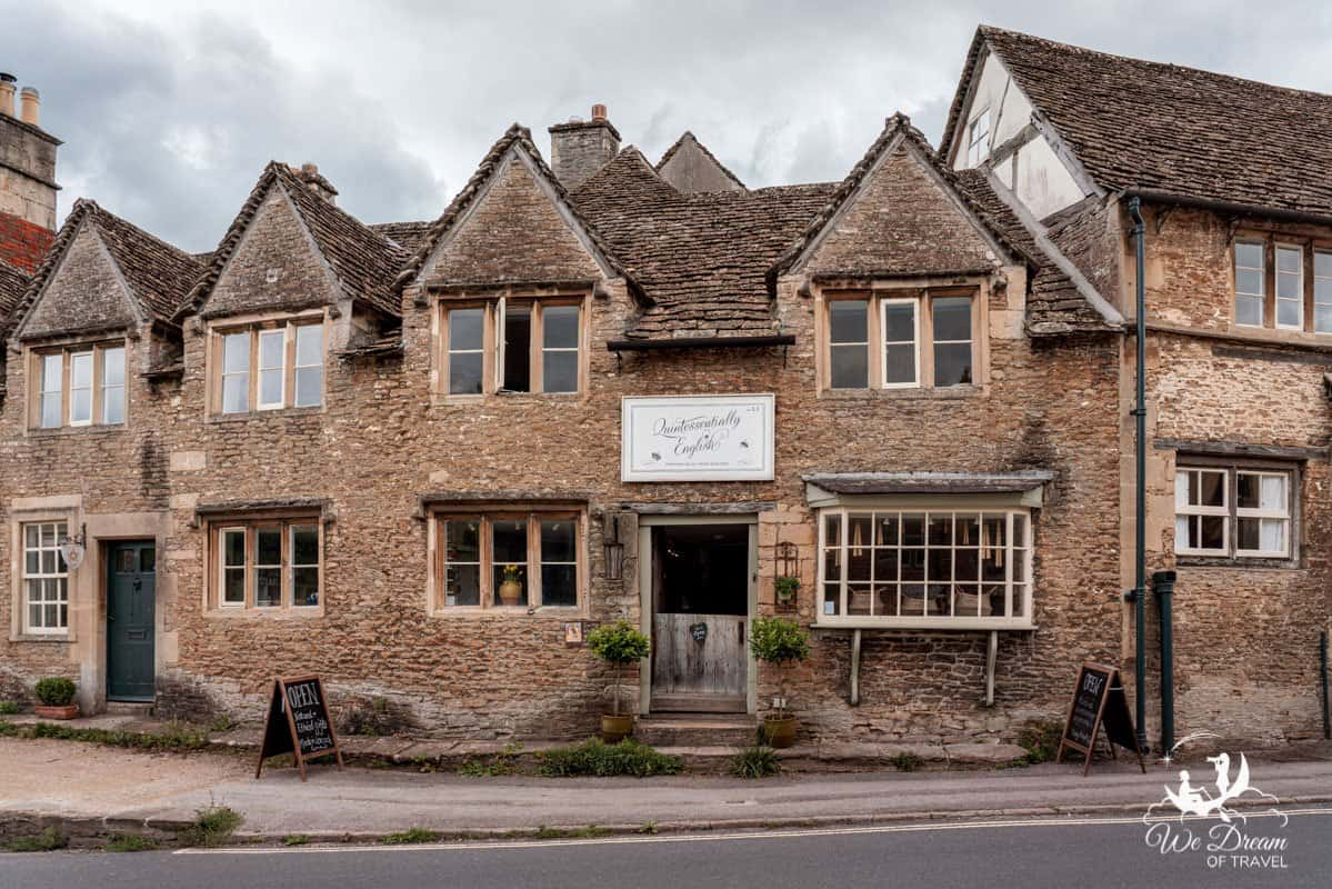 Quintessentially English shop front in Lacock