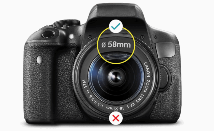 Find the lens thread for your lens before buying filters.