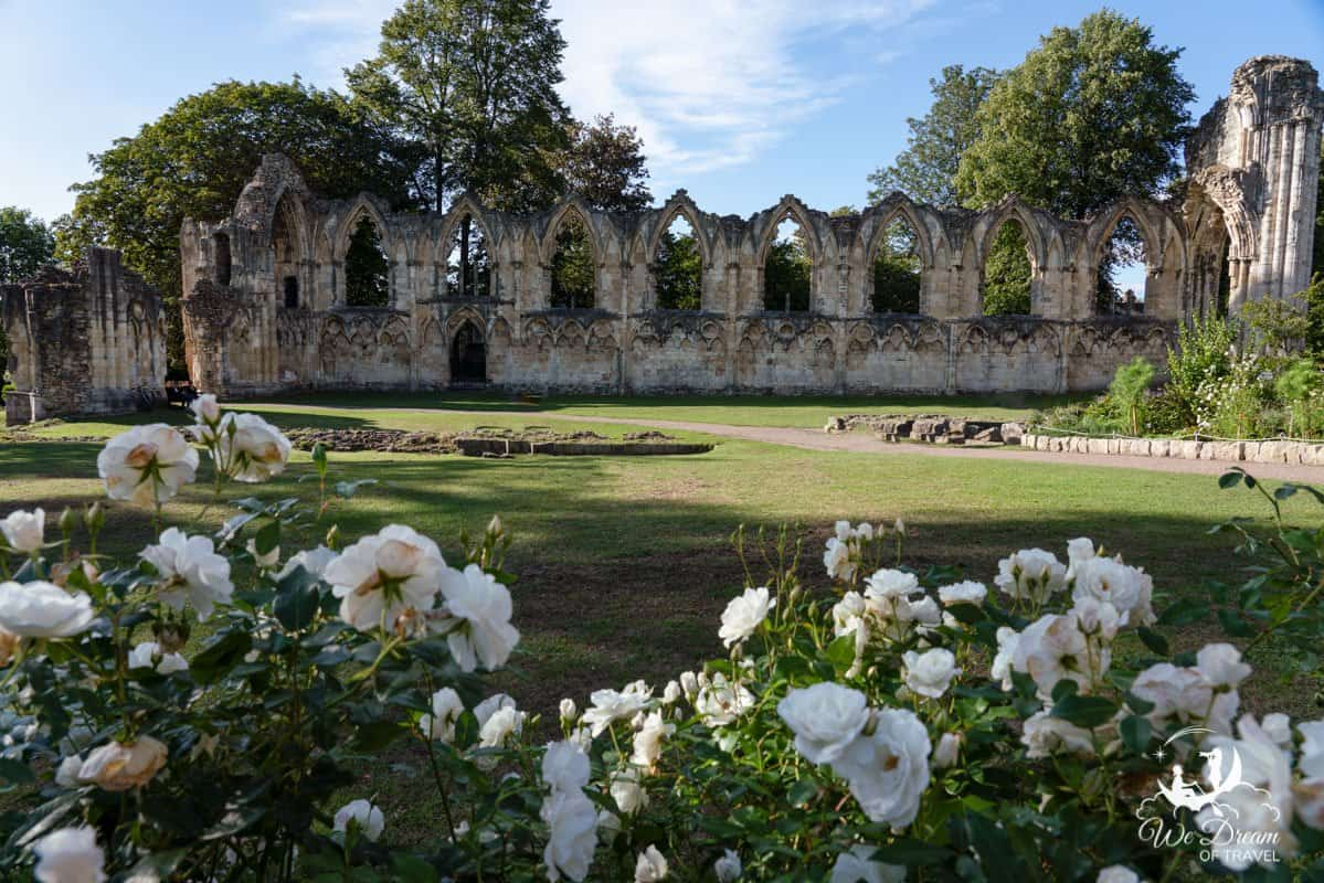 Remains of St Mary's Abbey in York Museum Gardens