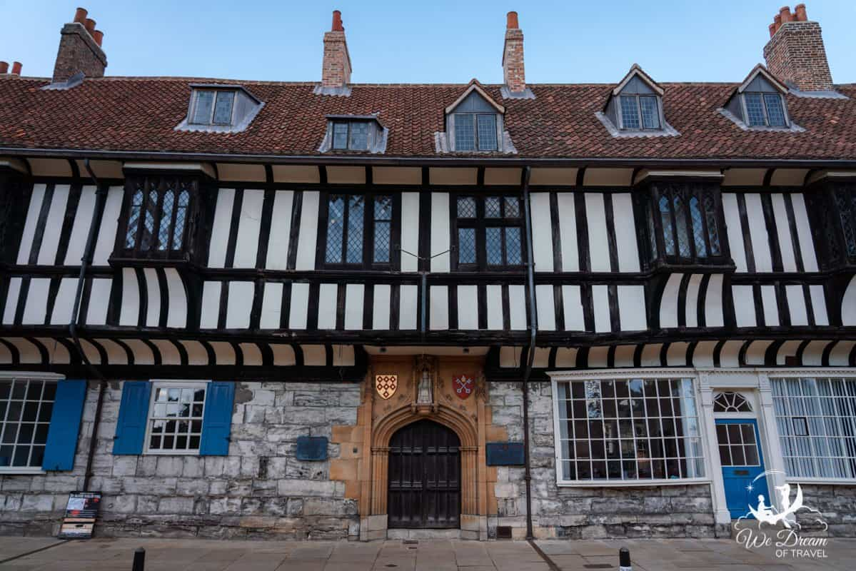 Half timbered building of St Williams College in York, England.