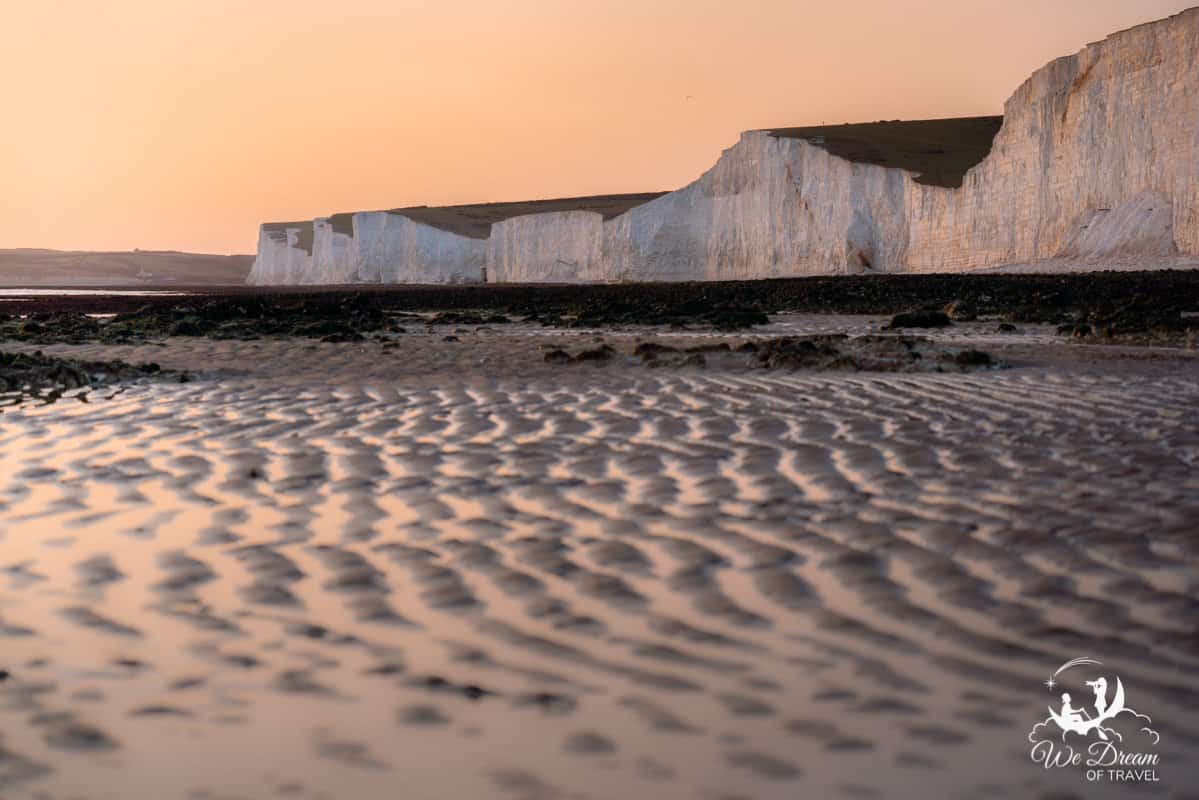 The Seven Sisters cliff come to life in this sunset photo from Beach Head.