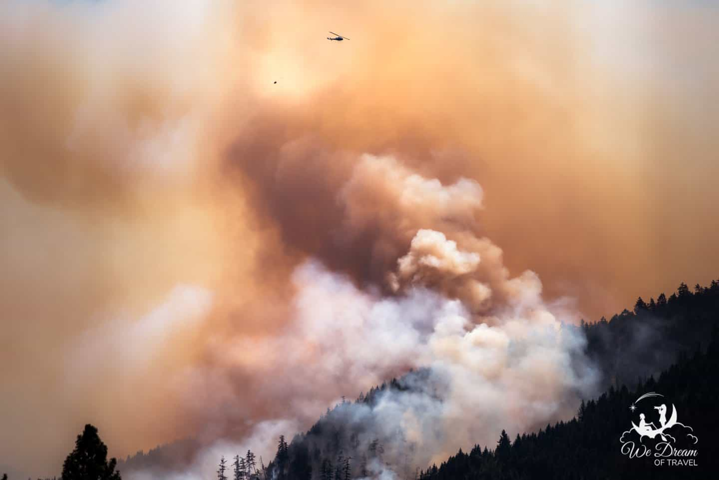 First responders attempt to contain a wildfire in Oregon.