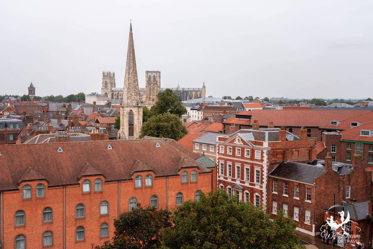 View over the city to York Minster from Clifford Tower
