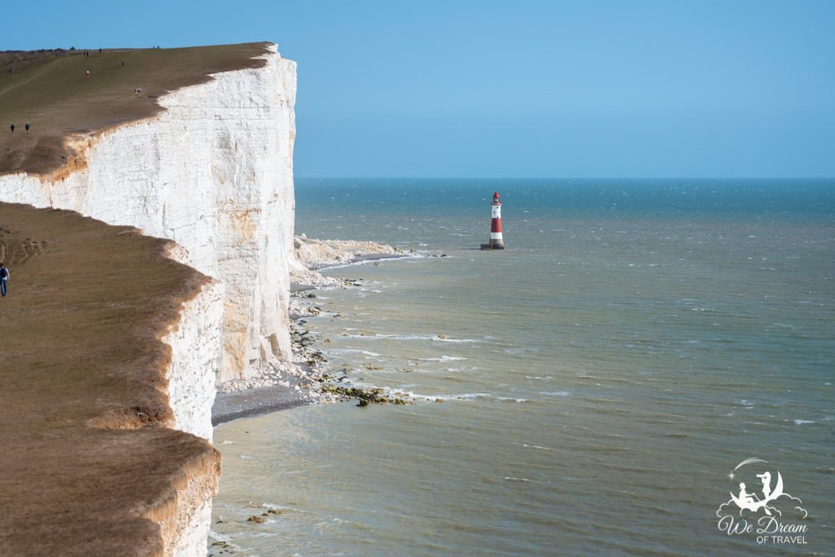 Daytime photography of Beachy Head Lighthouse.