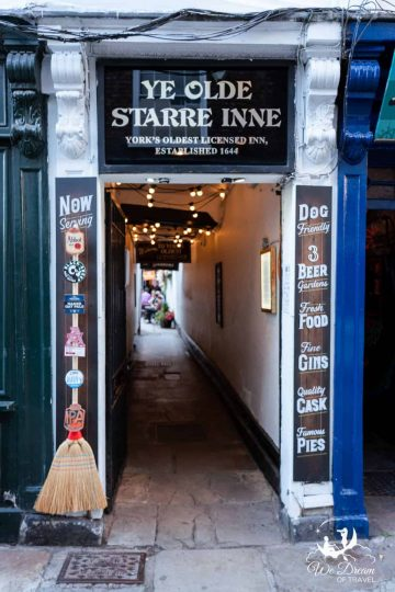One of the best things to do in York - have a drink at York's oldest licensed pub - Ye Olde Starre Inn