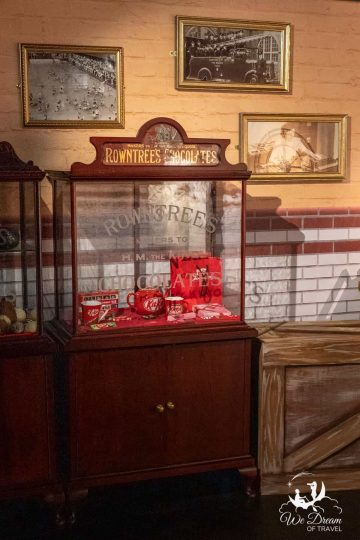 A kit kat display at the York Chocolate Story - one of the best things to do in York