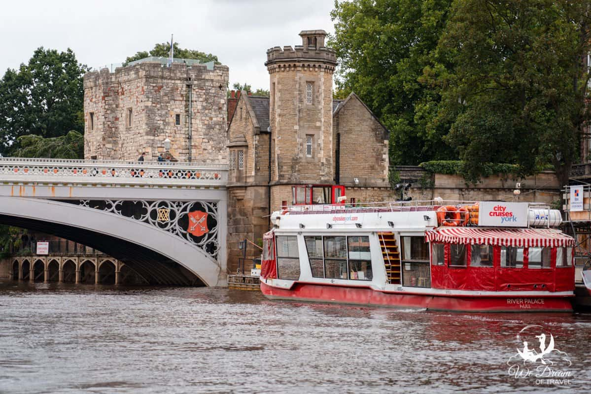 City Cruises York boat on the River Ouse in York England