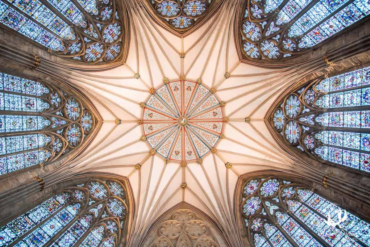 Details of the ceiling of York Minster