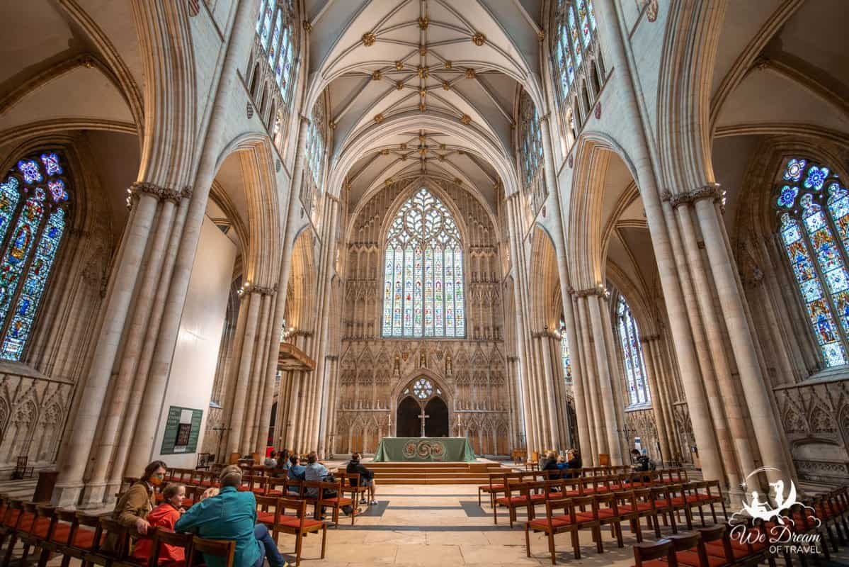 The magnificent interior of the York Minster - one of the best things to do in York England