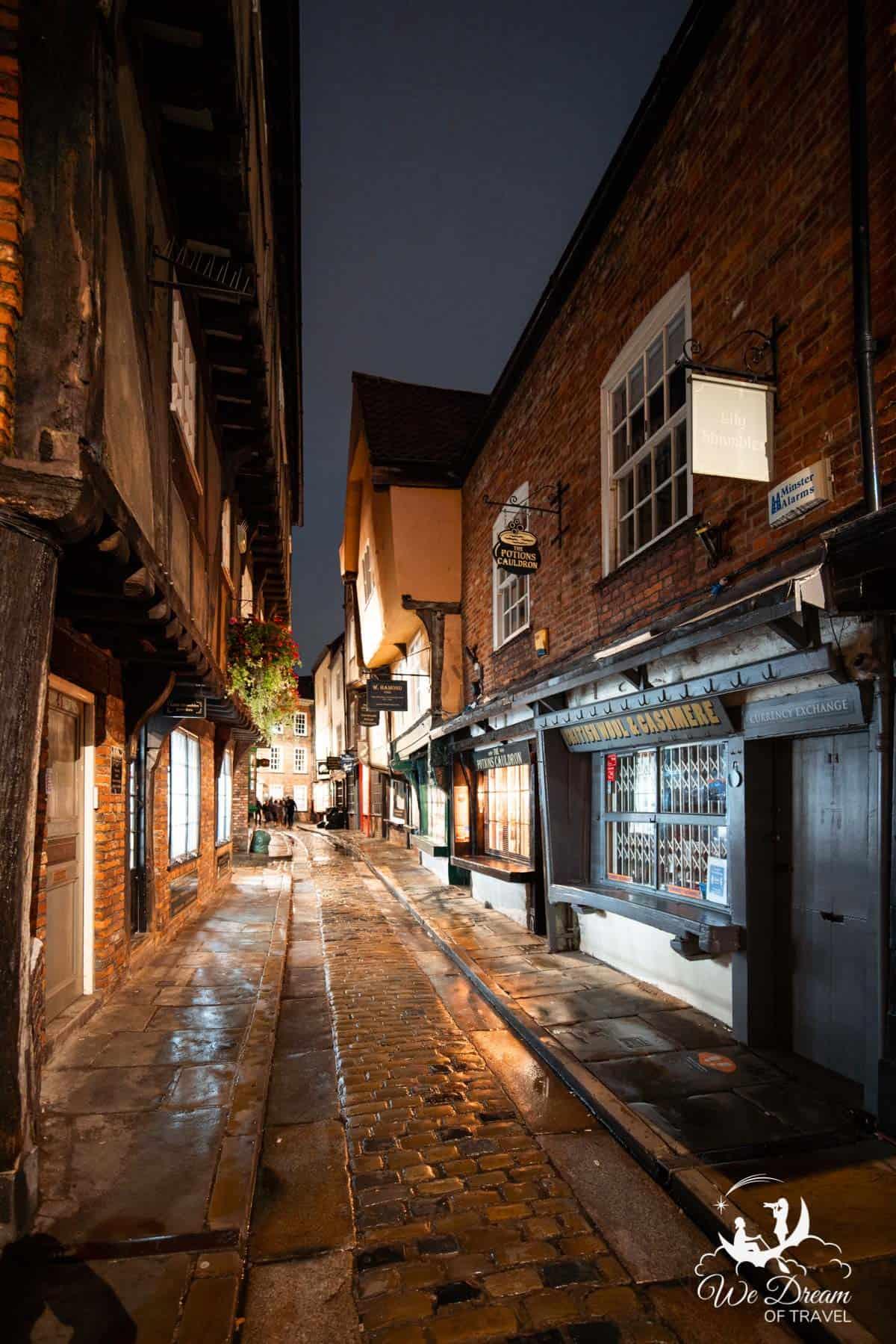 York Shambles at night