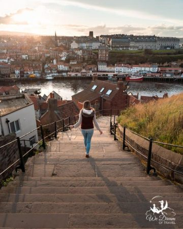 Climbing the 199 steps in Whitby is a top thing to do in Whitby