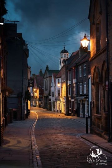 Early morning on Church Street - a quaint cobbled street in Whitby
